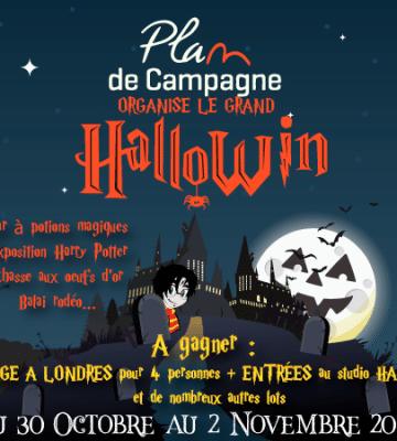 Plan de campagne organise HalloWin du 30 Octobre au 2 Novembre 2019