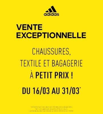 Grande vente Adidas jusqu'au 31 Mars 2019