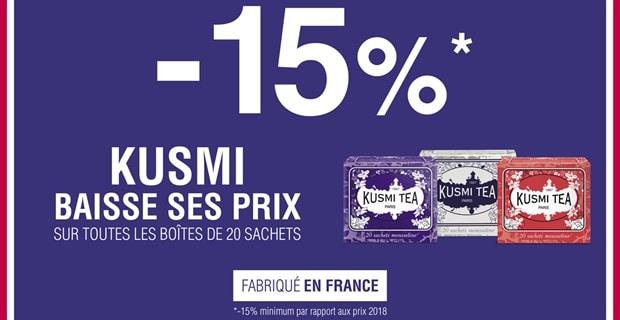 Kusmi Tea baisse ses prix